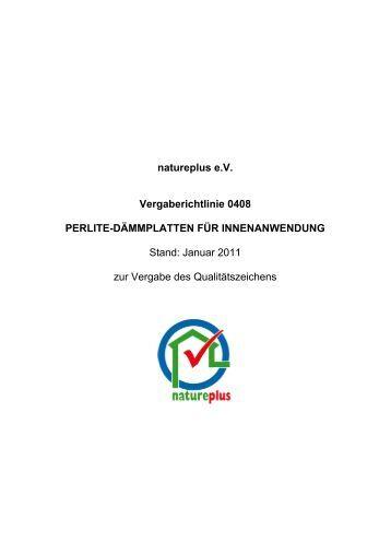 RL0408 Perlite-Dämmplatten für Innenanwendung - natureplus e.V.