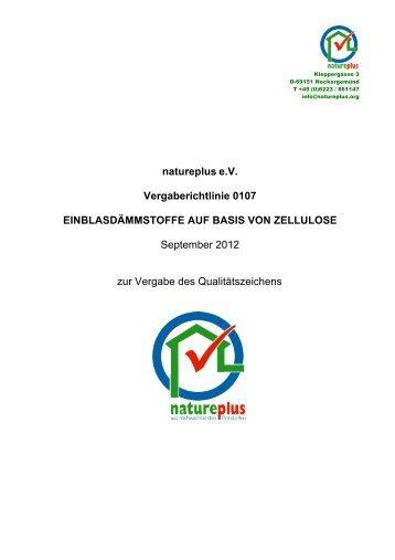 RL0107 Einblasdämmstoffe auf Basis von Zellulose - natureplus e.V.
