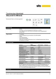 Technisches Merkblatt StoLevell In Mineral - Baubook