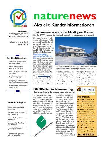 naturenews Januar 2009 - natureplus e.V.