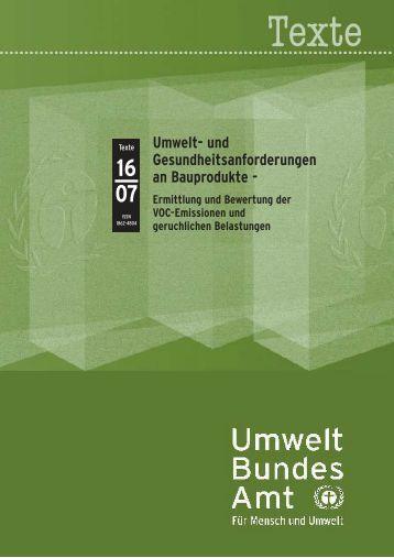 Anhang Abschlussbericht Bauproduktemissionen - natureplus