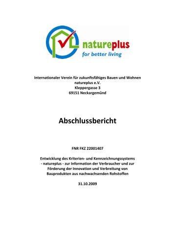 Bericht natureplus