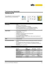 Technisches Merkblatt StoDecosil K - natureplus
