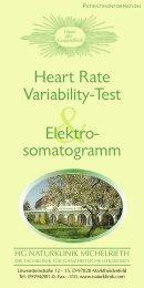 Heart Rate-Variability-Test & Elektrosomatogramm - HG Naturklinik ...