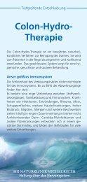 Colon-Hydro- Therapie - HG Naturklinik Michelrieth