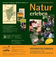 VERANSTALTUNGEN - Naturpark Augsburg Westliche Wälder e.V.