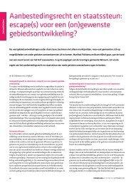 Aanbestedingsrecht en staatssteun: escape(s) - KienhuisHoving ...