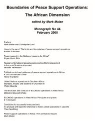 Boundaries of Peace Support Operations: The African Dimension