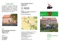 Programm des Hoffestes - NaturSchutzFonds Brandenburg