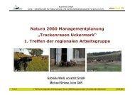 """Natura 2000 Managementplanung """"Trockenrasen Uckermark"""" 1 ..."""