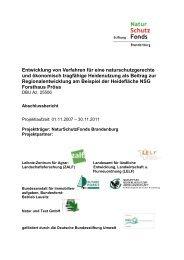 Entwicklung von Verfahren für eine naturschutzgerechte und ...