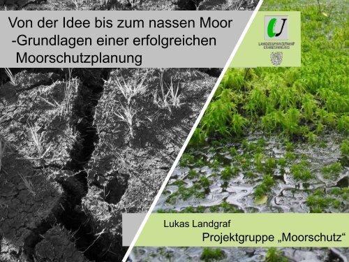 Von der Idee bis zum nassen Moor -Grundlagen einer erfolgreichen ...