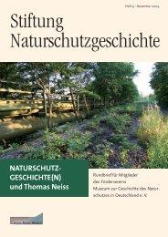 PDF des Rundbriefs 2009 - Stiftung Naturschutzgeschichte