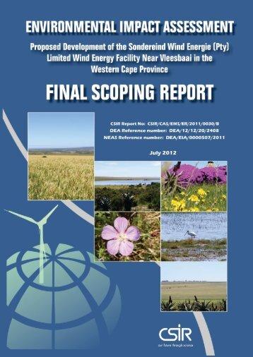 Final Scoping Report - CSIR