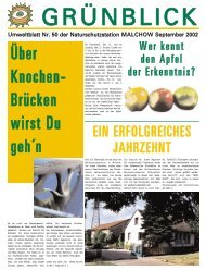Umweltblatt Nr. 50, Ausgabe September 02 - Naturschutzstation ...