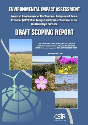 Draft Scoping Report - CSIR