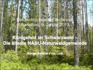 Koenigsfeld NABU Naturwaldgemeinde, F.Link - Naturschutztage ...