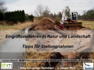 Eingriffsverfahren in Natur und Landschaft – Tipps für Stellungnahmen