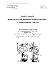 Konflikte analysieren R.Manderla