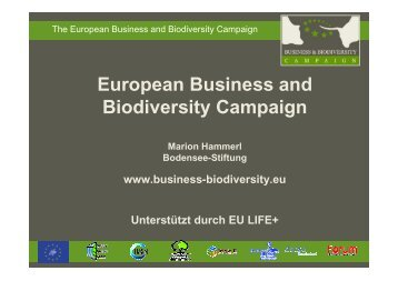 2011-01-06 M. Hammerl - Business and Biodiversity