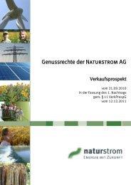 Genussrechte der Naturstrom AG - Beratung - Handel - Vertrieb