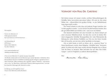 VORWORT VON FRAU DR. CARSTENS - Natur und Medizin e.V.