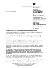 KLINIKEN ESSEN-MITTE - Natur und Medizin e.V.