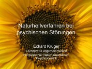 Vortrag Eckard Krüger - Natur und Medizin e.V.