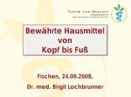 Dr. med. Birgit Lochbrunner - Natur und Medizin e.V.