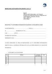 DOMANDA DI PARTECIPAZIONE (ALL.1) - Navigazione Laghi
