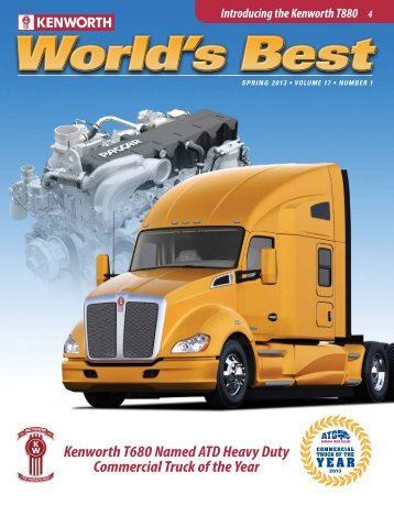 Kenworth T680 Named ATD Heavy Duty Commercial Truck of the Year