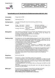 Ausschreibung NDM O19-2013 - Die Gruppe Nord