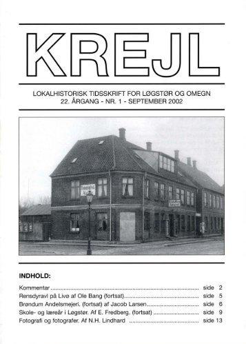 22. årgang nr. 1 - Lokalhistorisk Arkiv for Løgstør Kommune