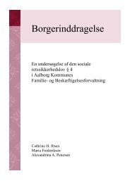 Speciale ved Politik Administration - Aalborg Universitet