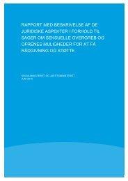 Rapport med beskrivelse af de juridiske aspekter i - Socialministeriet