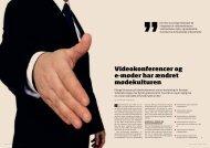 Videokonferencer og e-møder har ændret mødekulturen