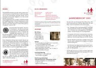JAHRESBERICHT 2003 - NCL-Stiftung