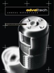 Annual report 2008 (pdf) - AdvalTech