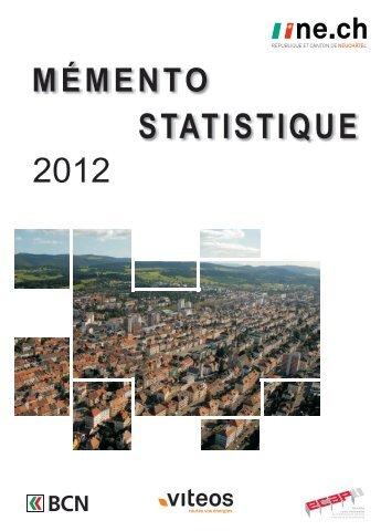 STATISTIQUE 2012 - Canton de Neuchâtel