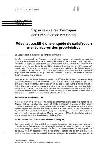 7 décembre 2007 (pdf/184Kb) - Canton de Neuchâtel