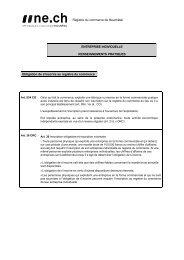 Registre du commerce de Neuchâtel ENTREPRISE INDIVIDUELLE ...