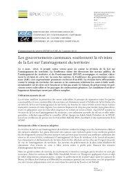 7 janvier 2013 - Conférence des gouvernements cantonaux
