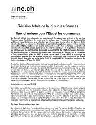 Révision totale de la loi sur les finances - Canton de Neuchâtel