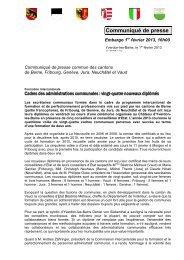 Cadres des administrations communales - Canton de Neuchâtel