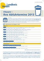Abfuhrkalender Verden 2013