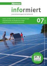 Erfolgreiche Energiegewinnung ? Photovoltaik auf ... - Nehlsen AG