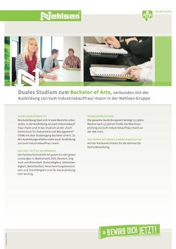 Duales Studium zum Bachelor of Arts, verbunden mit der