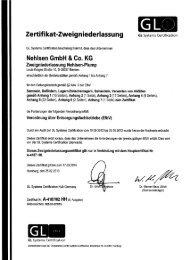 EfbV-Zertifikat Niederlassung Nehlsen-Plump Gesamtzertifikat