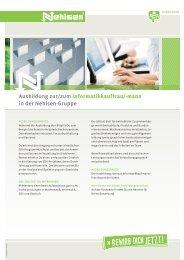 Ausbildung zur/zum Informatikkauffrau/-mann in der Nehlsen-Gruppe