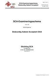 SCA-Examineringsschema Deskundig Asbest Acceptant - Ascert